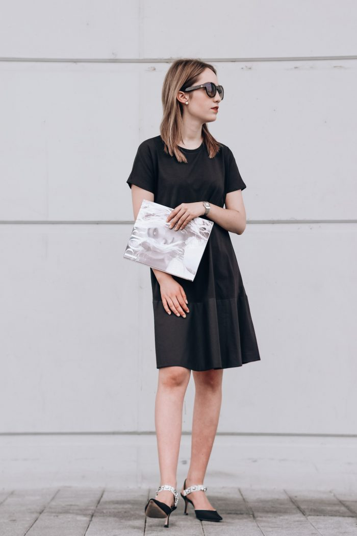 Another Contrast-Panelled Jersey Dress